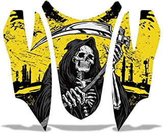 Arctic Cat Firecat Sabercat Sled Snowmobile Hood Nose Decal Graphic Kit Wrap REAPER YELLOW