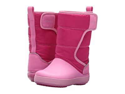 Crocs Kids LodgePoint Snow Boot (Toddler/Little Kid) (Candy Pink/Party Pink) Kids Shoes