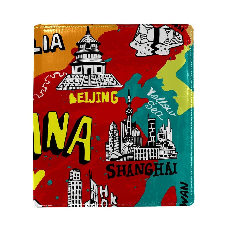 プット欠席書き出すブックカバー a5 中国 地図 北京 文庫 PUレザー ファイル オフィス用品 読書 文庫判 資料 日記 収納入れ 高級感 耐久性 雑貨 プレゼント 機能性 耐久性 軽量16x22cm