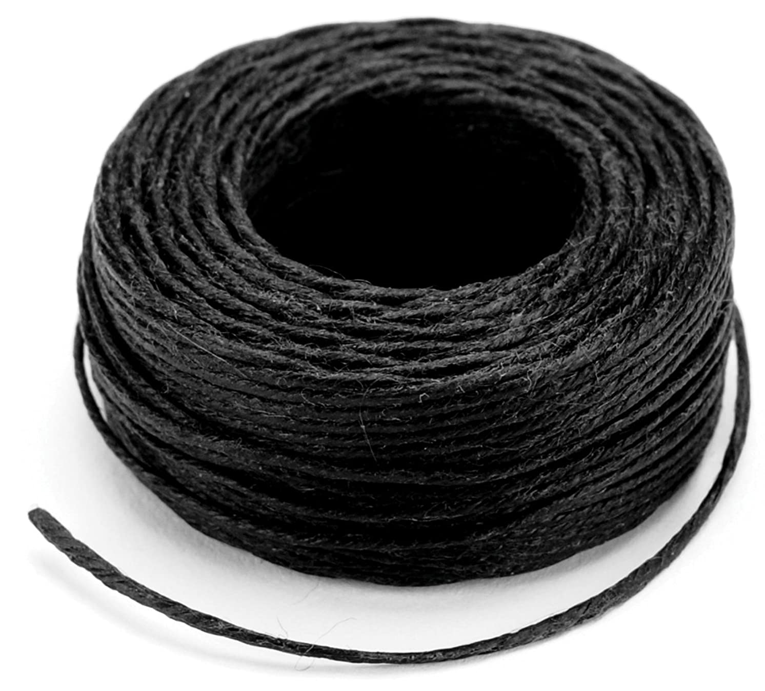 Tandy Leather Waxed Thread 25 yds (22.9 m) Black 11207-01