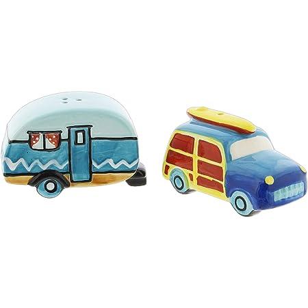 Novelty Salt & Pepper Shaker Set (RV Camper & Station Wagon)