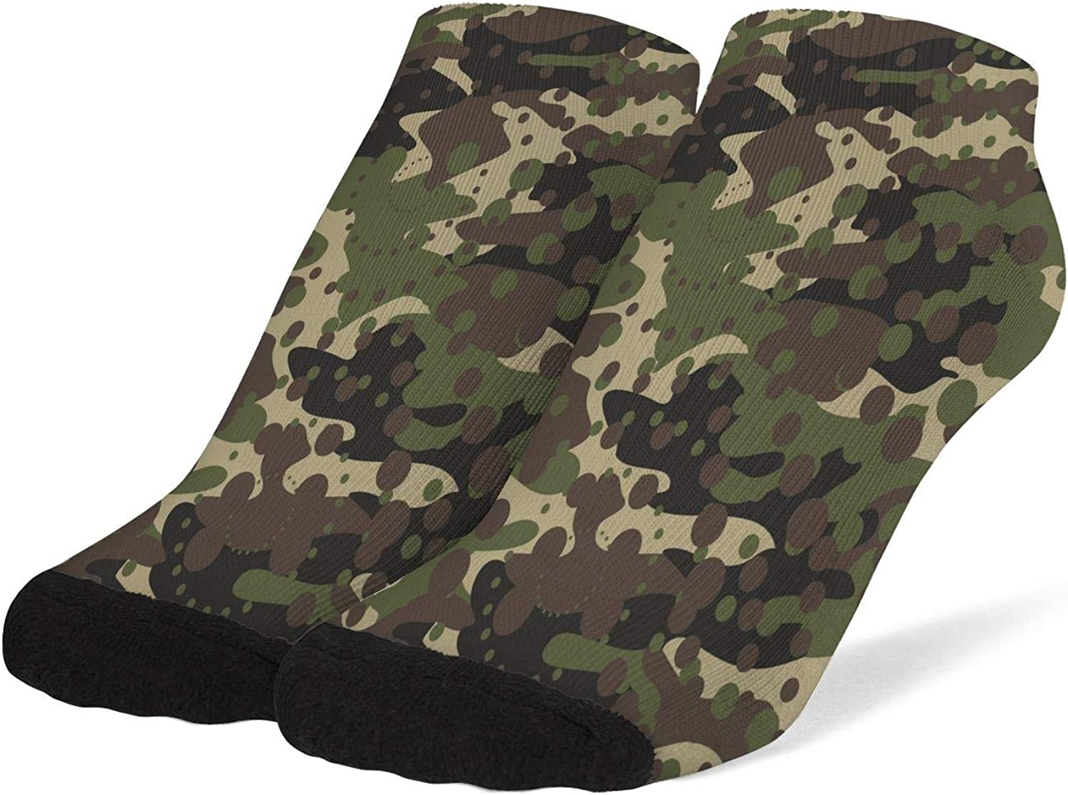 Women Army Camo Camouflage Military Socks Cotton No Show Low Cut Socks Ankle Sock