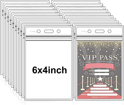 Fushing 50 pcs imperméable à l'eau des porte-badges en plastique badges (XXL)