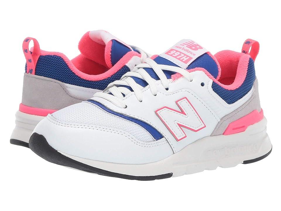 New Balance Kids PR997Hv1 (Little Kid) (White/Laser Blue) Kids Shoes