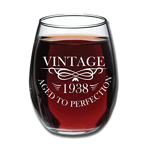 1938 Birthday Gifts For Women And Men Wine Glass