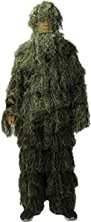 LOOGU Woodland Camo Suit Outdoor Military Hunting and Shooting Accessories Tactical Camouflage Clothing Blind for Airsoft, Wildlife Photography Halloween or Party