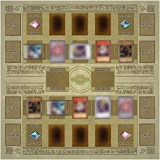 Wenini Yu-gi-oh Card Rubber Play Mat, Standard Type (for Competition) Egypt Mural Style Competition Pad, 60x60cm/23.6x23.6...