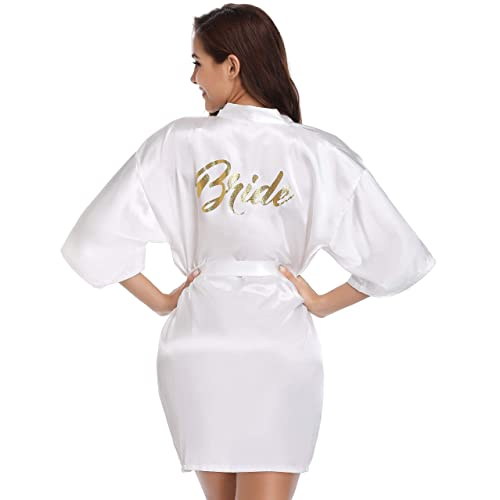 aaa1bdf1cd Vlazom Bride Bridesmaid Robes Satin Bridal Party Robe Dressing Gwons