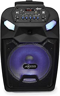 Axess Portable PA Speaker System with Wired Microphone, 12† Wireless Bluetooth Speaker with Rechargeable Battery and Par... photo