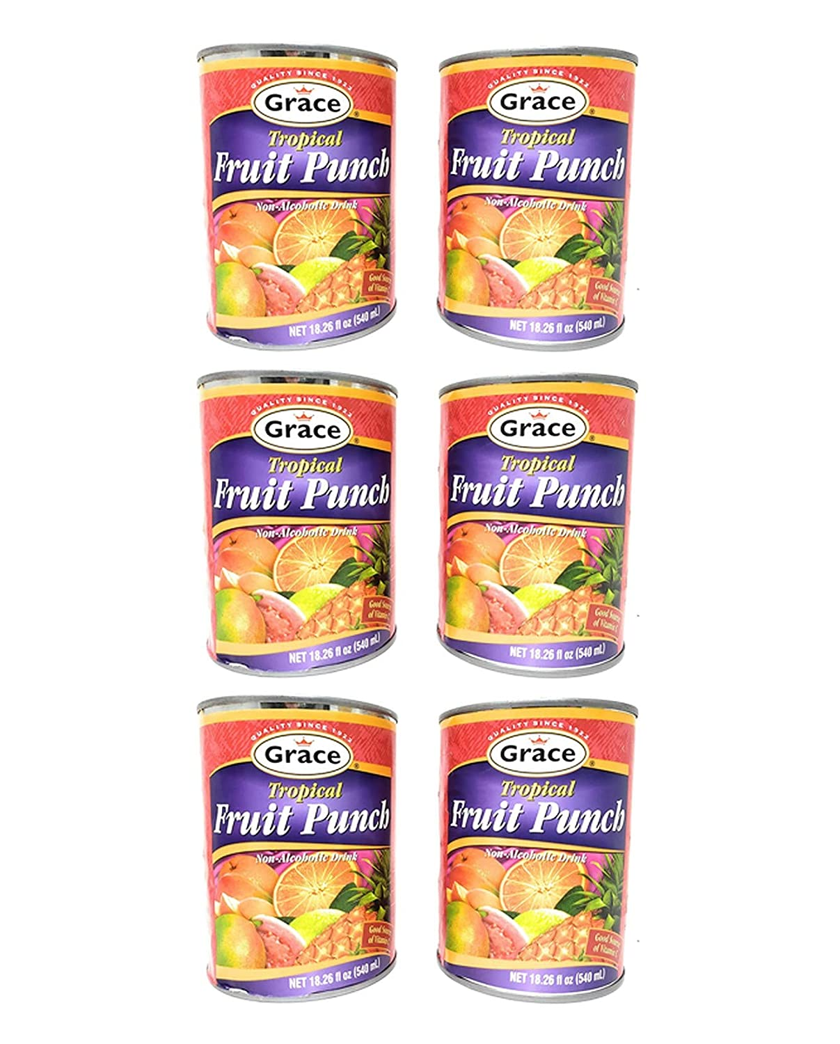 Grace Tropical Fruit Punch 5% OFF Non-Alcoholic Pack Total 6 Drink of Mail order