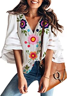 Best mexican embroidered shirts Reviews