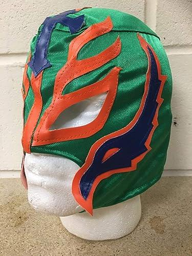 barato Rey Rey Rey Mysterio -verde -Cremallera Máscara- NUEVO- WWE Wrestling Disfraz Disfraz  muchas concesiones