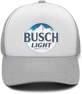 Men's Vintage Strapback Hat Busch-Light-Latte-Beer- Adjustable Sun Cap