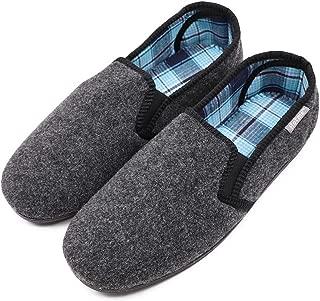 MediFeet Men's Comfy Memory Foam Diabetic Slippers Extra Wide Width Slip-on Corduroy Edema House Shoes for Swollen Feet Elderly Seniors
