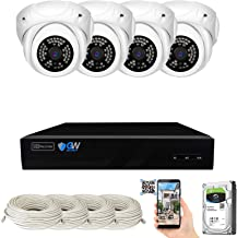 GW Security 8 Channel 4K NVR 5MP IP Camera Network PoE Surveillance System with 4-Piece HD 1920P Weatherproof Outdoor Indo...