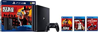 2018 Playstation 4 Pro 1TB Console - Red Dead Redemption 2 + Marvel's Spider-man + NBA 2K17 PS4 Bundle ( 3 - Items )