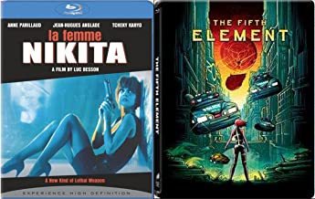 La Femme Nikita & The Fifth Element Steelbook [Blu-ray] Luc Besson Double Feature Bundle Pack Set
