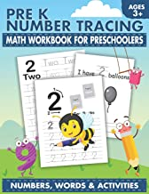 Pre K Number Tracing Math Workbook For Preschoolers: Simple math for toddlers | Learn tracing numbers for kids ages 3-5