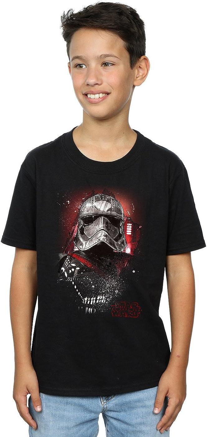 STAR WARS Boys The Last Jedi Captain Phasma Brushed T-Shirt 5-6 Years Black