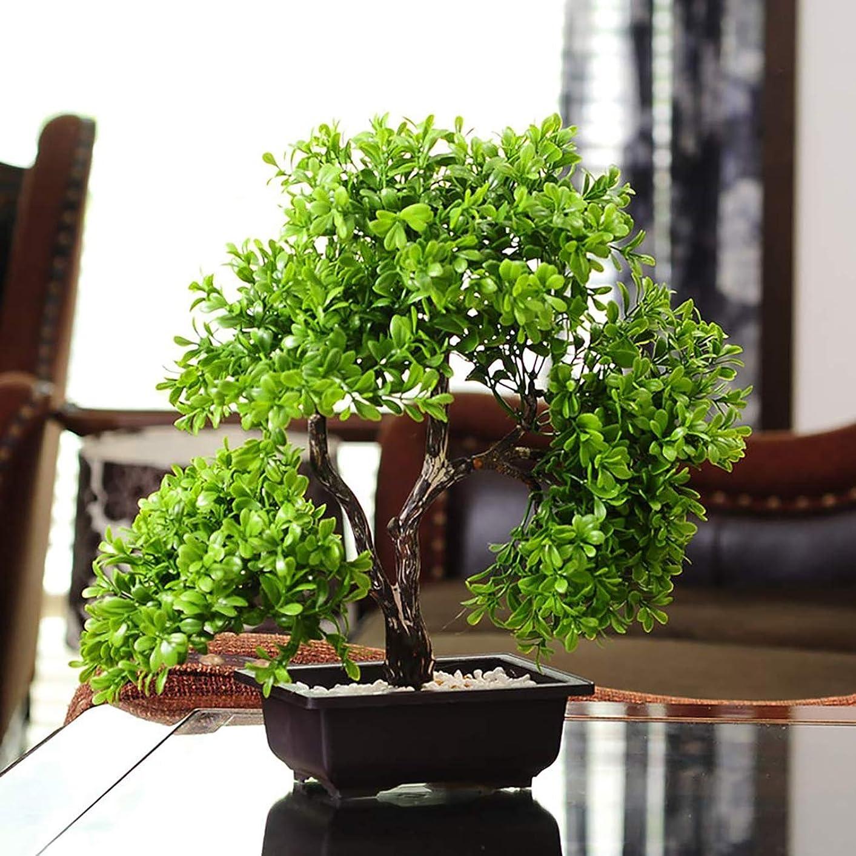ヘア抹消コンピューターPusaman Kuuml人工植物Gruuml; NE人工の花家の装飾、37センチメートル高い; nはKuuml人工植物、盆栽クリエイティブプラスチック、ツゲGruumlを鉢植え