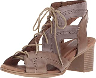 Cobb Hill Women's Hattie Open Lace Heeled Sandal, Taupe Bali Multi, 11 M US