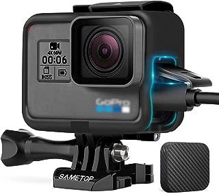 Sametop GoPro Hero 7/Hero 6/ Hero 5/ Hero (2018)カメラに適用 ゴープロ保護フレームケース ハウジング スポーツカメラアクセサリー レンズカバー付き
