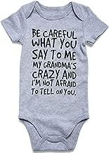 UNICOMIDEA Baby Boys Girls Romper Letter Printed Jumpsuit Short Sleeve Bodysuits Infant Funny Onesie for 0-12 Months