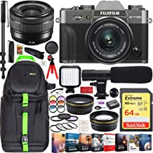 $899 » Fujifilm X-T30 Mirrorless 4K WiFi Camera & XC15-45mm F3.5-5.6 OIS PZ Lens (Charcoal Silver) Pro Travel Bundle Backpack + Wide Angle & Telephoto Lens + Microphone + LED + 64GB + Filter Kit + Software