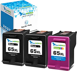 Inkworld Remanufactured for HP 65XL Ink Cartridge Replacement for HP 65 XL to Used for HP Envy 5052 5055 5012 5010 5020 50...