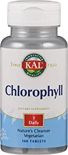 KAL Chlorophyll Tablets, 20 mg, 100 Count