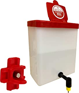 RentACoop Chick Waterer 2Liter Drinker Plus Red Versatile Nipple