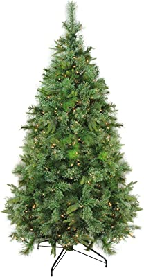 """Northlight 28884588 6.5' x 49"""" Pre-Lit Cashmere Mixed Pine Full Artificial Christmas Tree - Clear Dura Lights"""