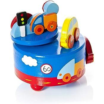 """Mousehouse Gifts Caja de música para niños con Motivos de Coches y melodía de """"London Bridge is Falling Down"""": Amazon.es: Juguetes y juegos"""