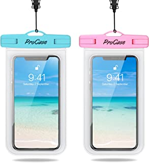 ProCase Waterproof Phone Pouch 2 Pack, Universal Cellphone Waterproof Underwater Case Dry Bag for iPhone 12 Pro Max 11 Pro...