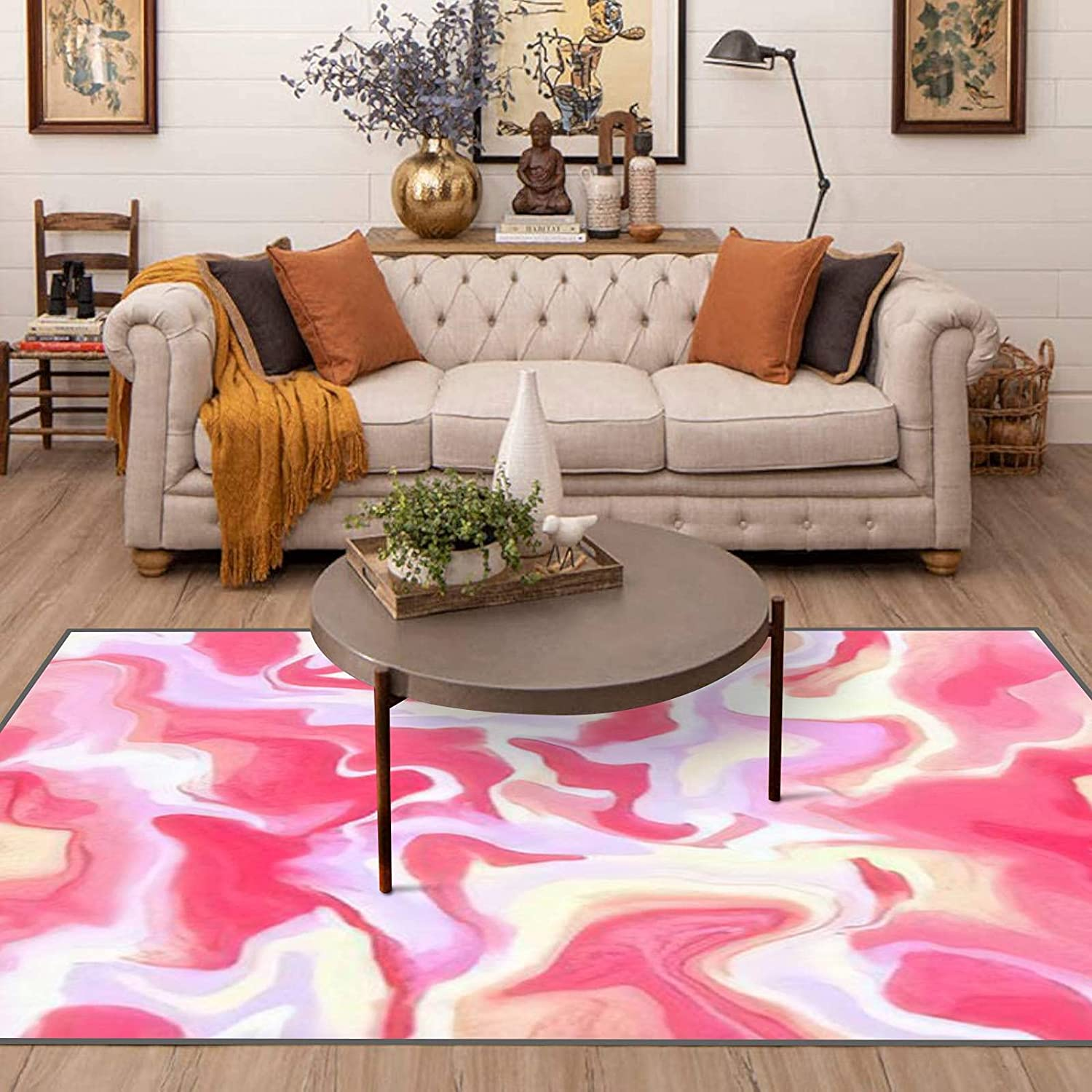 Area Runner Rug Non-Slip Throw Pattern Abstract Credence Seamless Rugs Inexpensive Ha