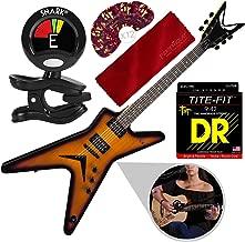 Dean MLX Electric Guitar, Trans Brazilia with Strings, Picks, Accessory Bundle