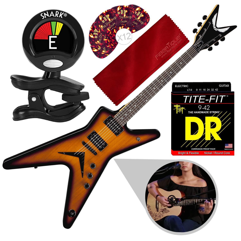 Cheap Dean MLX Electric Guitar Trans Brazilia with Strings Picks Accessory Bundle Black Friday & Cyber Monday 2019