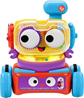 Fisher-Price 4-in-1 Ultimate Learning Bot, electronic activity toy with lights, music and educational content for infants...