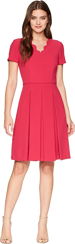 Tahari by ASL Scallop Fit and Flare Dress