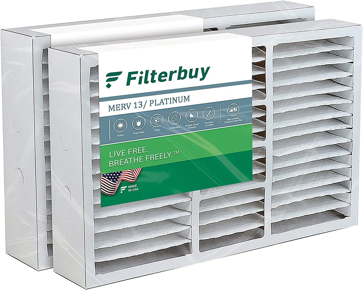 FilterBuy Safety and trust 24x25x5 Air Filter MERV Pleated Very popular Replacement HVAC A 13