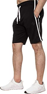 Enzo EZSL586 Mens Shorts Cozy Lounge Gym Workout Pyjamas Striped Sleepwear Jersey Bottoms Short Half Pants