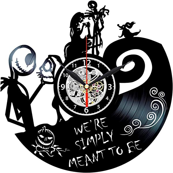 Queen Clocks Nightmare Before Christmas Clock Vinyl Record Wall Art Jack And Sally Decor Gift For Women