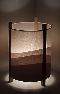 Lámpara de mesa original - Sala de estar - Lámpara de mesa 25x38cm - Lámpara color berenjena