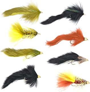 Slumpbuster Bouface Bunny Streamer Flies Collection - Set of 8 Big Bass and Trout Cone Head and Bead Head Fly Fishing Wet Flies - Hook Sizes 4 and 6