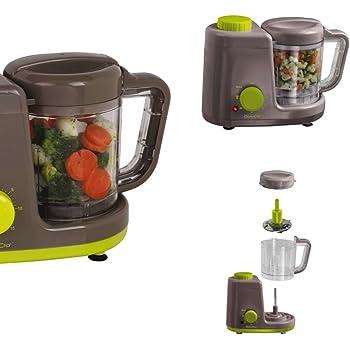 4 in1 batidora eléctrica de vapor Función para mantener caliente Silenciador de preparación de alimentos para bebés (Vaporera, temporizador, Stand de licuadora Smoothie maker, Baby Robot de cocina): Amazon.es: Hogar