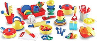 Learning Resources Pretend & Play Kitchen Set, Toy Dishes and Utensils, 73 Piece Set, Ages 3+