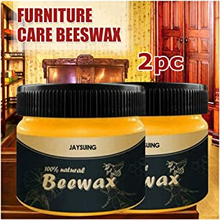 77JOK Wood Seasoning Beewax - Wood Polish Traditional Beeswax for Wood & Furniture Natural Beewax Wood Cleaner and Polish Non Toxic for Furniture to Beautify Protect Restore a Finish (Z-100g 2)