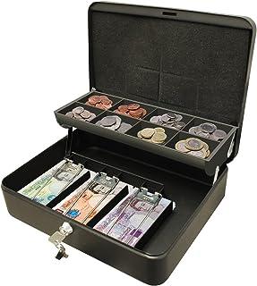 Cathedral Products CBDLBK 30 cm (12-tum) ultimat kassaskåp säkert lås med myntfack för småpengar – svart