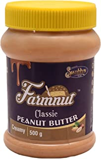 JOEN DIVERSE Farmnut Classic Peanut Butter (Creamy)-500 Gm, Made with Roasted Peanuts, Zero Cholesterol & Transfat, High i...