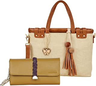 Butterflies Women Hand Bag With Wallet Combo (Multi) (BNS WB0748) (Set of 2)
